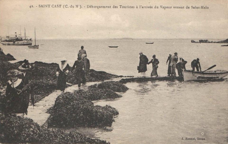Arrivee touristes saint cast